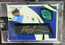 Kyle Lewis 2020 Immaculate Rc Clutch Jersey Button Gold Auto #5/5 Mariners!!