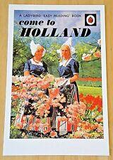 LADYBIRD POSTCARD ~ COME TO HOLLAND BY BETTY SCOTT DANIEL 1971 ~ NEW