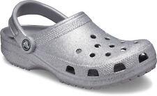 crocs Clog mit Fersenriemen Classic Glitter Clog Silber Croslite Normal Damen