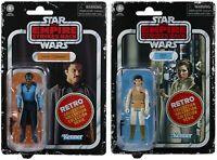 Star Wars Retro Collection Empire Strikes Back Kenner Black Series Lando & Leia