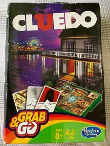 Hasbro Gaming Grab & Go Cluedo Travel Game Ages 8+