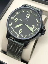 Laco 861907 Pilot Watches Special Models Bell X-1 Black PVD Case Automatic Watch