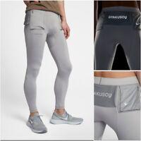 NikeLab x Undercover Gyakusou Utility Running Tights Men's MED LG Silver $180