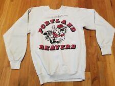 Portland Beavers Vintage sweatshirt size S small 34-36 white signed rare