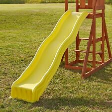 Swing Set Slide Wave Outdoor Kid Play Backyard Playground Playset Plastic Yellow