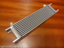 NEW OIL COOLER CORE 10 ROW 235MM AN8 MALE FITTING SILVER ALLOY RADIATOR