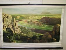 Vecchio Lavagna didattica Elbsandsteingebirge,Vintage DECORAZIONE