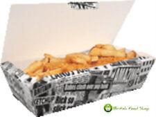 5 grande carta da giornale Fish & Fish and Chips di fast food DI CARTONE imballaggio Take Away