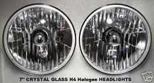 "CRYSTAL Halogen HEAD LIGHTS, 7"" Round. VINTAGE UPGRADE."