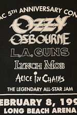 M * vtg 90s 1991 ALICE IN CHAINS l.a. guns OZZY OSBOURNE * 71.52