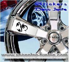 8 STICKER AUTOCOLLANT LOGO JANTE FIAT 500 ABARTH