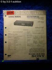 Sony Service Manual ST JX250L / JX255L Tuner (#2335)