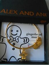 Alex and Ani GINGERBREAD MAN II Expandable Bracelet Yellow Gold NWTBC