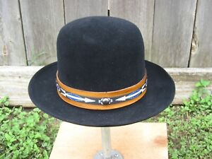 Cowboy, Bowler, Player, hat, Knox,7 1/8, Black fur felt ,New, SASS