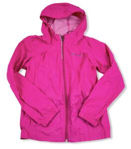 Columbia Girls Pink Rain Jacket Nylon Lightweight Hooded Sz Small 7-8