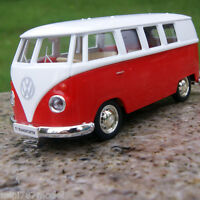 Volkswagen Van T1 Micro Bus 5'' Alloy Diecast Model Cars Toys Red and White New