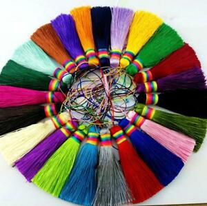 V19(1,10 pc)7.5cm Long tassel Rainbow Cap(use for earring bookmark runner dress)