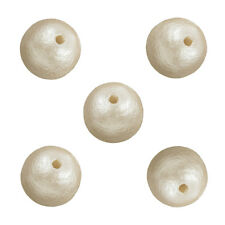 Miyuki Cotton Pearl Beads 10mm Round Off White Pack of 5 (M26/4)