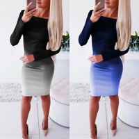 Bodycon Long Sleeve Bandage Evening Party Dress Cocktail Mini Women Casual Club