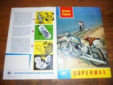 Prospetto SALES BROCHURE NSU moto SUPERMAX CICLOMOTORE Mokick MOTORINO SCOOTER BIKE