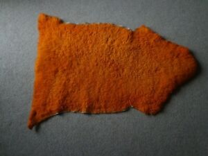 Genuine sheepskin rug (orange)