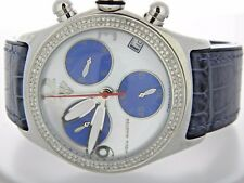 Round Aqua Master  Bubble Stainless Steel Diamond Watch For Men