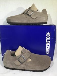 Birkenstock Womens Size 6 EU 37 London Taupe Suede Casual Shoes ZB6-1105