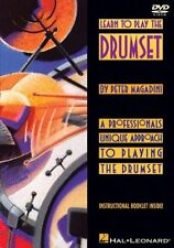 """""""LEARN TO PLAY THE DRUMSET"""" DRUM DVD-BRAND NEW SEALED ON SALE BY PETER MAGADINI"""