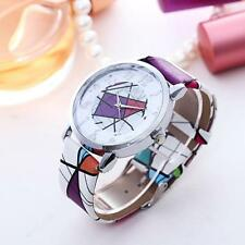 Casual Women's Analog Stainless Steel Leather Strap Quartz Dial Wrist Watch Hot