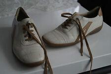 SEMLER Select Damen Schuhe Sneaker Schnürschuhe Leder creme Gr.3,5 G 36 wie NEU