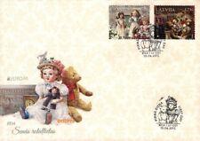 Latvia 2015 (08) Europa - Old Toys - Doll, Teddy bear (unaddressed FDC)