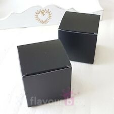 "20x Black 3"" Favour Boxes Bomboniere Wedding Baby Shower Cookies Cupcake Box"