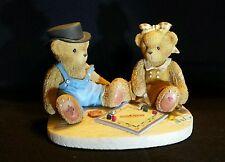 Jerald and Mary Ann Cherished Teddies Playing Monopoly 2000 ~ NIB
