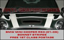 BMW Mini R53 Bonnet Stripes John Cooper Style, Works S, Choice of colours 7 year