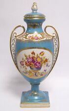 Jarrón de porcelana con tapa coleccionista oro deco ánfora h:37 cm
