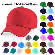 Kids Plain Baseball Cap Girls Boys Junior Mens Ladies Adult Childrens Hat  Summer 8a4f8c403f93