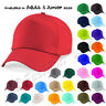 Kids Plain Baseball Cap Girls Boys Junior Mens Ladies Adult Childrens Hat Summer