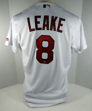 St. Louis Cardinals Mike Leake #8 Game Issued Signed White Jersey