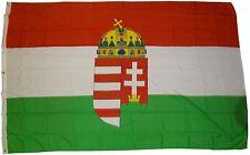 XXL Bandera HUNGRÍA ESCUDO 250 x 150cm con 3 Ojales De Metal IZAR HUNGARY