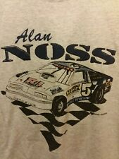 Rare Vtg Alan Noss Nascar T-Shirt Single Stitched 1990's Size Large Hanes 50/50