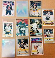 """11 Card """"Oddball"""" lot RAY BOURQUE Bruins HOFer Mini/Big/OPC+more NM/MT 1987-1993"""
