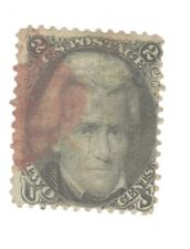 Scott 73 Early US Stamp 2c Jackson ...1861-66..  RED CANCEL