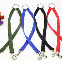 Pet Double Head Lead Leash Traction Rope Two Dogs Puppy Jogging Splitter