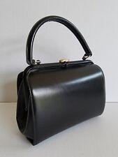 Vintage Black Mastercraft La Parisienne Kelly Frame 1950s 1960s Pinup Handbag