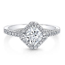 Ring For Women In 925 Ss White Princess And Round Moissanite Designer Engagement