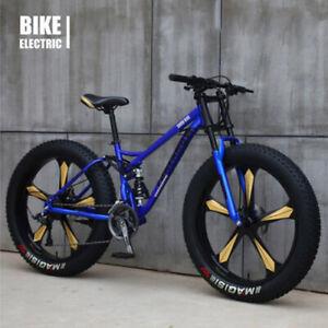 Fat Bike 24-26Zoll Mountainbike  Fahrrad Vollfederung mit grossen Reifen