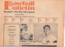Vintage The BASEBALL BULLETIN Monthly Newspaper Vol 1 No. 1 RARE clean NICE 1975