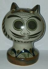 """Ken Edwards KE Ceramic Pottery Cat Head 7"""" Tonala Mexico"""