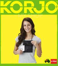Korjo Travel  Super Neck Belt Pouch Money Passport Holder Wallet