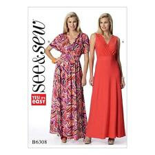 Butterick sew & sew sewing pattern misses's pull-over easy robe taille 8-22 B6308